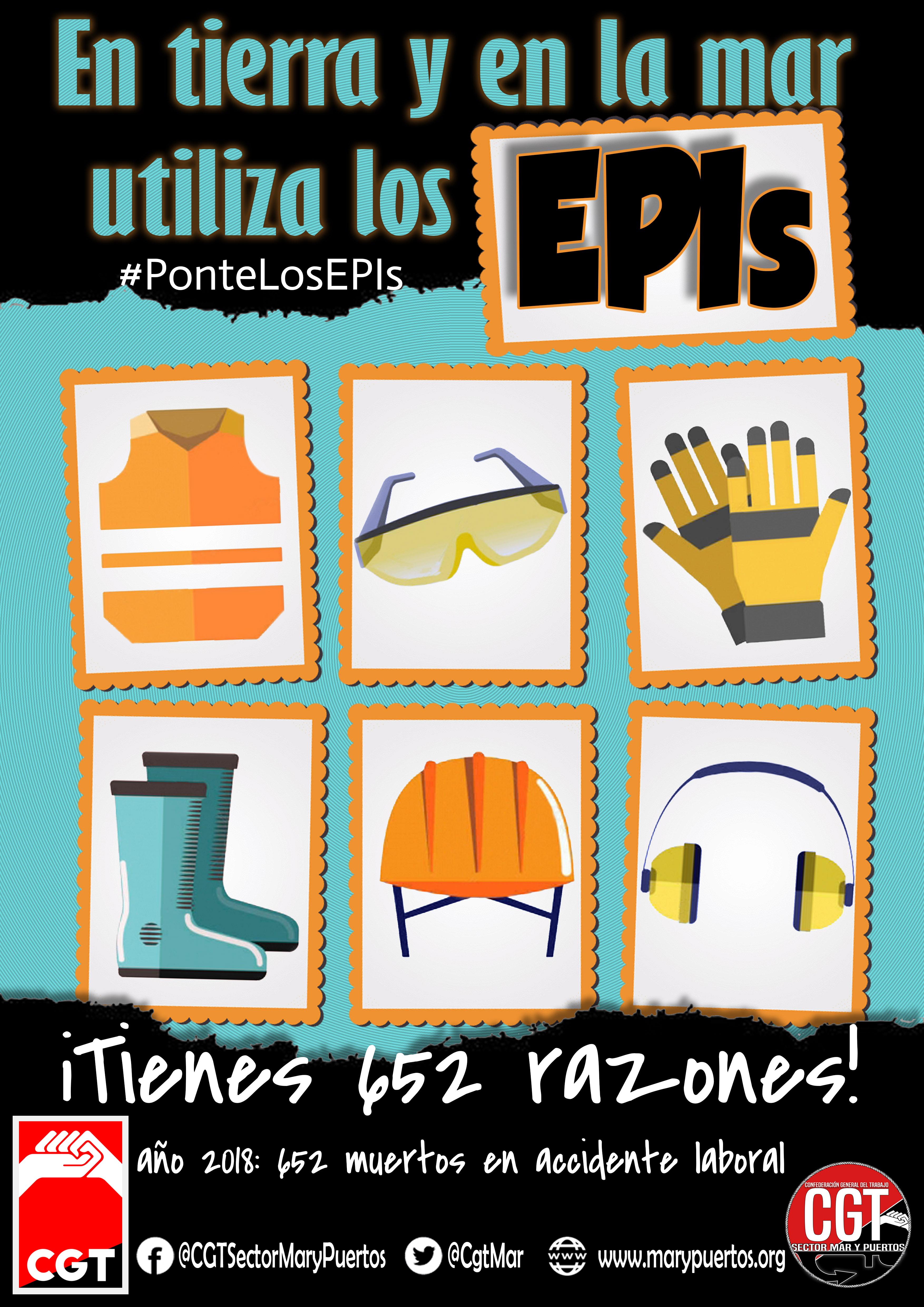 Campaña EPIs #PonteLosEPIs